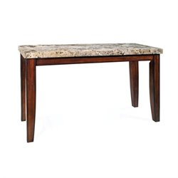 Steve Silver Company Montibello Marble Dining Table in Cherry