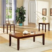 Steve Silver Company Abaco 3 Piece Cocktail Table Set in Acacia Finish