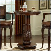 Steve Silver Company Antoinette Wood Top Round Pub Table in Cherry Finish