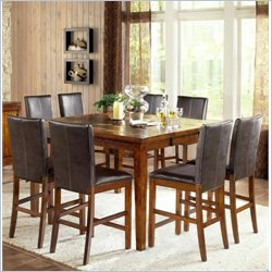 Steve Silver Company Davenport Counter Height Dining Table with 18 Inch Leaf