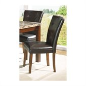 Steve Silver Company Montibello Parsons Chair in Dark Brown