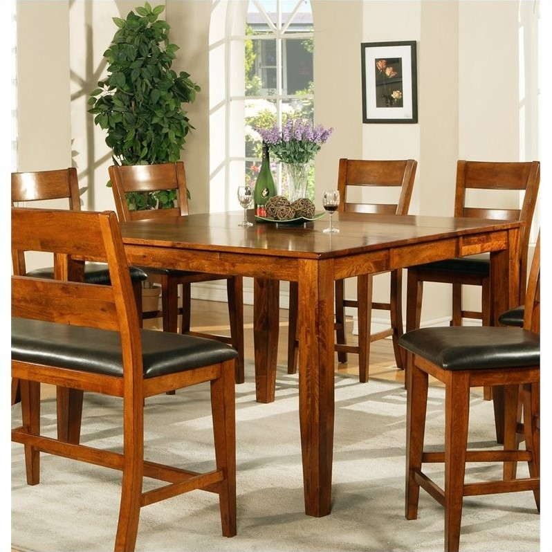 Steve Silver Company Mango Counter Height Dining Table in Light Oak
