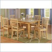 Steve Silver Company Branson Table with 12 Inch Leaf in Natural