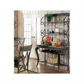 Steve Silver Company Hamlyn Marble Top Bakers Rack