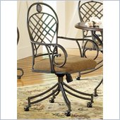Steve Silver Company Wimberly Welded Arm Chair with Casters