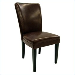 Steve Silver Company Willow Parsons Dining Chair in Brown