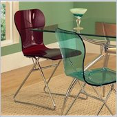Steve Silver Company Carnival Side Chair in Red