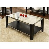 Steve Silver Company Newman Glass Top Cocktail Table