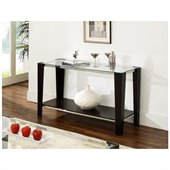 Steve Silver Company Newman Glass Top  Sofa Table