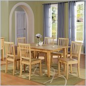 Steve Silver Company Branson 7 Piece Dining Set in Natural (Free Chair Included)