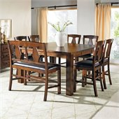 Steve Silver Company Lakewood 7 Piece Counter Height Dining Set (Free Chair Included)