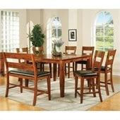 Steve Silver Company Mango 7 Piece Counter Height Dining Set (Free Chair Included)