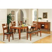 Steve Silver Company Mango 7 Piece Dining Set (Free Chair Included)