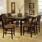 Steve Silver Company Montblanc 7 Piece Counter Height Dining Set (Free Chair Included)