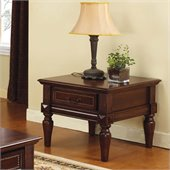 Steve Silver Company Davina End Table in Rich Cherry Finish