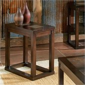 Steve Silver Company Alberto Chairside End Table in Cherry Finish