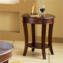 Steve Silver Company Troy End Table in Cherry Finish
