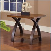 Steve Silver Company Beamont End Table in Dark Cherry Finish