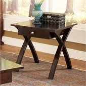 Steve Silver Company Sao Paulo End Table in Dark Cherry Finish