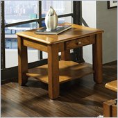 Steve Silver Company Nelson End Table in Oak
