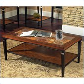 Steve Silver Company Feliz Cocktail Table in Cherry Finish