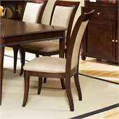 Steve Silver Company Marseille Cream Fabric Dining Side Chair in Dark Cherry