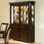 Steve Silver Company Marseille China Cabinet in Dark Cherry