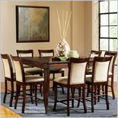 Steve Silver Company Marseille Counter Height Dining Table in Cherry