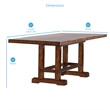 ADD TO YOUR SET: Steve Silver Company Zappa Counter Height Dining Table