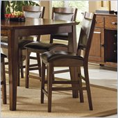 Steve Silver Company Vancouver Dark Brown Vinyl Counter Height Dining Chair