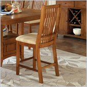 Steve Silver Company Tulsa Cream Fabric Counter Height Dining Chair in Cherry
