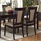 Steve Silver Company Wilson Vinyl Dining Side Chair in Espresso