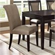 ADD TO YOUR SET: Steve Silver Company Wilson Vinyl Parsons Chair in Espresso