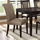 Steve Silver Company Wilson Vinyl Parsons Chair in Espresso