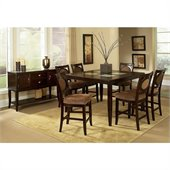 Steve Silver Company Montblanc 8 Piece Counter Height Dining Set (Free Chair Included)