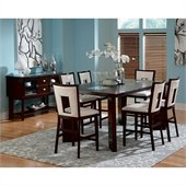 Steve Silver Company Delano 8 Piece Counter Height Dining Set (Free Chair Included)