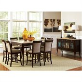 Steve Silver Company Marseille 10 Piece Counter Height Dining Set (Free Chair Included)