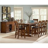 Steve Silver Company Zappa 10 Piece Counter Height Dining Set (Free Chair Included)