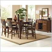 Steve Silver Company Vancouver 8 Piece Counter Height Dining Set (Free Chair Included)