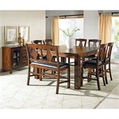 Steve Silver Company Lakewood 9 Piece Counter Height Dining Set (Free Chair Included)