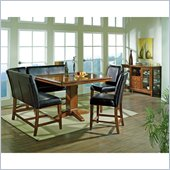 Steve Silver Company Plato 7 Piece Counter Height Dining Set (Free Chair Included)