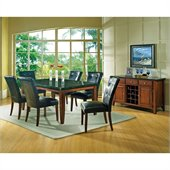 Steve Silver Company Granite Bello 8 Piece Dining Set (Free Chair Included)