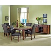Steve Silver Company Montibello 8 Piece 70 Dining Set (Free Chair Included)