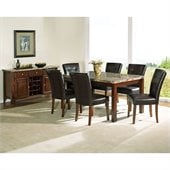Steve Silver Company Montibello 8 Piece 64 Dining Set (Free Chair Included)
