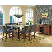 Steve Silver Company Montibello 8 Piece Counter Height Dining Set (Free Chair Included)