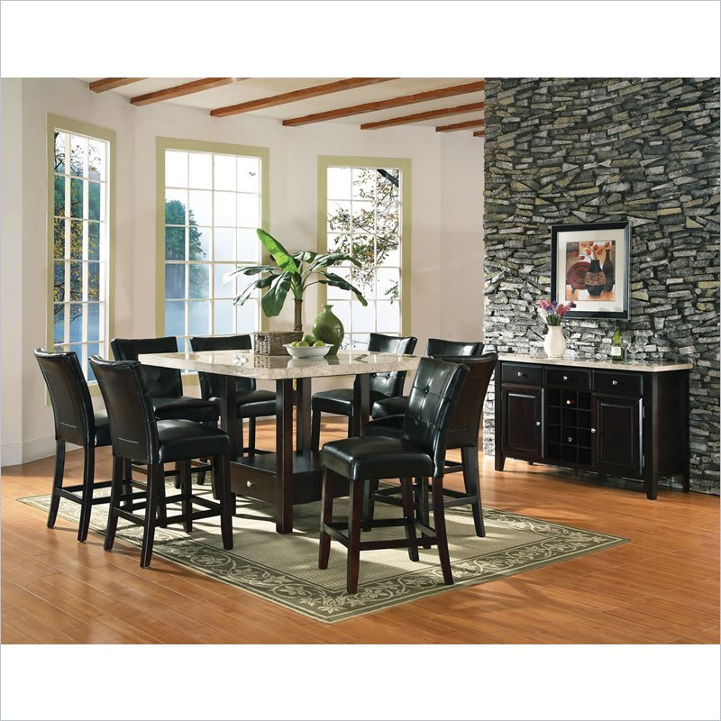 Steve Silver Company Monarch 10 Piece Counter Height Dining Set (424166  MC54X54X10PKG) Photo