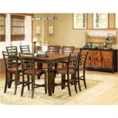 Steve Silver Company Abaco 10 Piece Counter Height Dining Set (Free Chair Included)