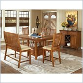 Steve Silver Company Tulsa 7 Piece Counter Height Dining Set (Free Chair Included)