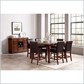 Steve Silver Company Clayton 8 Piece Counter Height Dining Set (Free Chair Included)