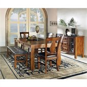 Steve Silver Company Lakewood 7 Piece Dining Set (Free Chair Included)